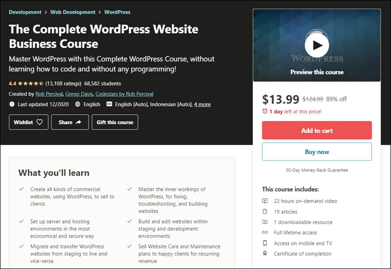 wordpress business course
