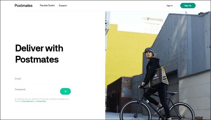 deliver with postmates