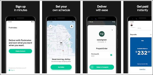 postmates driver app screenshots