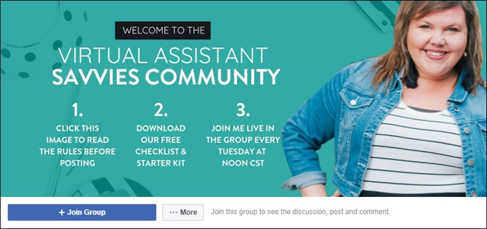 virtual assistant savvies facebook group