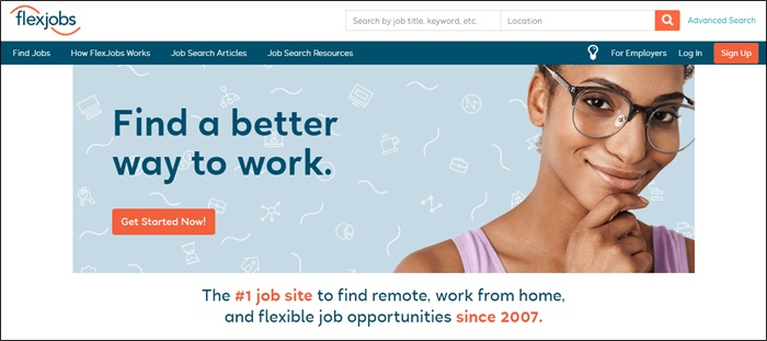 work from home with flexjobs