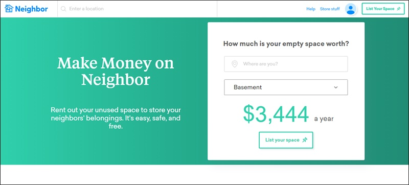 earn passive income on neighbor