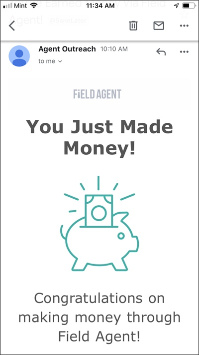 field agent job approved