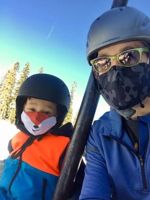 skiing with little hustler 1