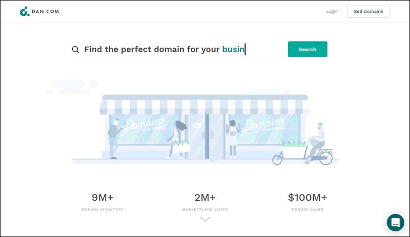 domain flipping on dan.com