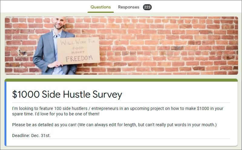 1k100ways survey